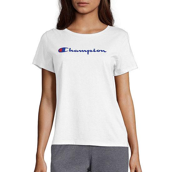 Champion Womens Crew Neck Short Sleeve T-Shirt