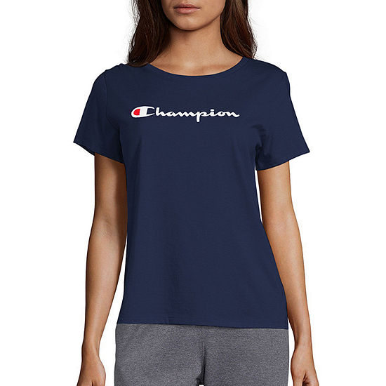 Champion Womens Crew Neck Short Sleeve T-Shirt
