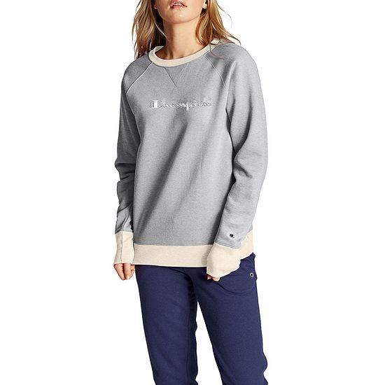 Champion Womens Crew Neck Long Sleeve Hoodie