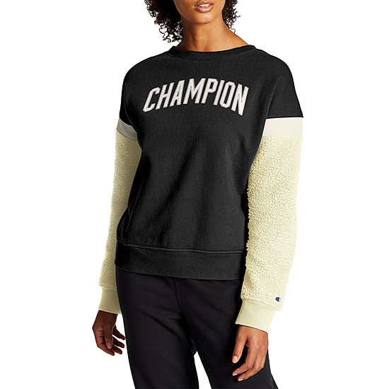 Champion Womens Crew Neck Long Sleeve Quarter-Zip Pullover