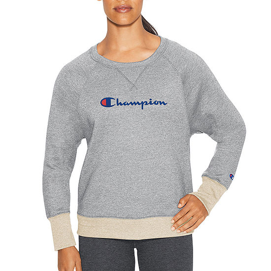 Champion Fleece Graphic Womens Crew Sweatshirt