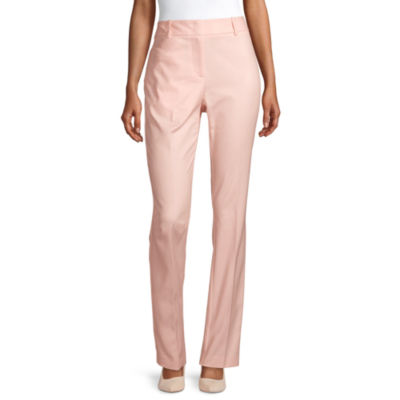 Liz Claiborne Womens Mid Rise Regular Fit Ankle Pant