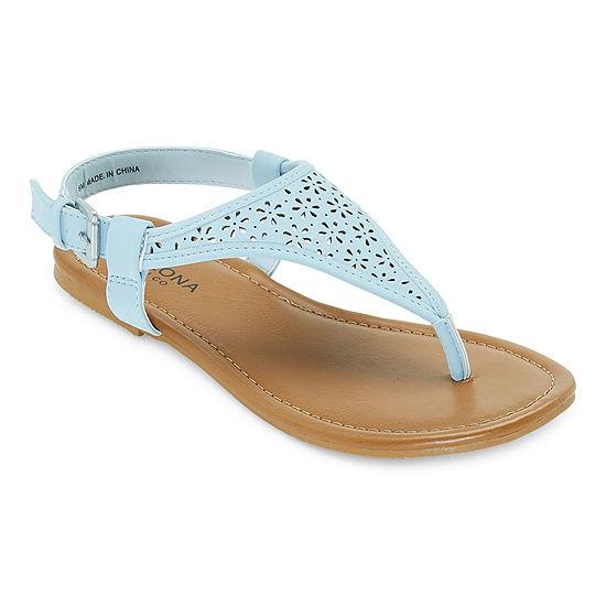 Arizona Womens Same T-Strap Flat Sandals