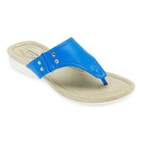 Deals on St. Johns Bay Womens Zunyi T-Strap Flat Sandals