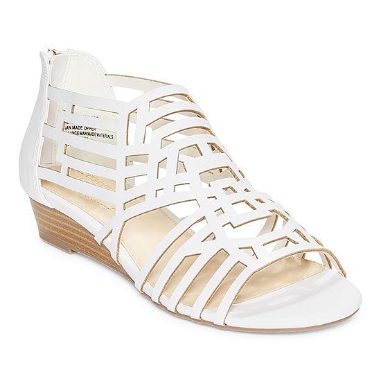 Liz Claiborne Womens Adelaine Wedge Sandals