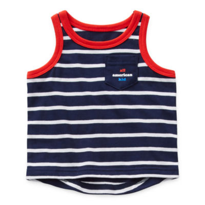 Okie Dokie Americana Baby Boys Crew Neck Tank Top