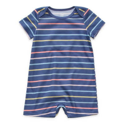 Sleep Chic Baby Girls Short Sleeve One Piece Pajama