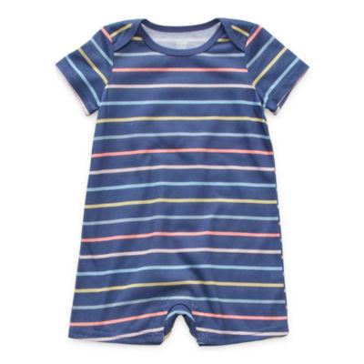 Sleep Chic Baby Girls Short Sleeve One Piece Pajama