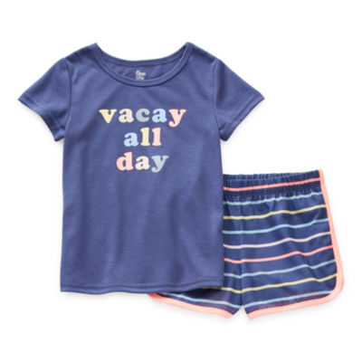 Sleep Chic Mommy & Me Toddler Girls 2-pc. Shorts Pajama Set