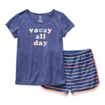 Sleep Chic Mommy & Me Little & Big Girls 2-pc. Shorts Pajama Set
