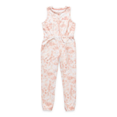 Sleep Chic Little & Big Girls French Terry Sleeveless One Piece Pajama
