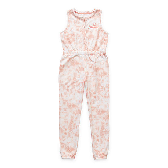 Sleep Chic Little & Big Girls French Terry Sleeveless One Piece Pajama