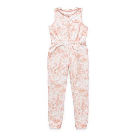 Sleep Chic Little & Big Girls Sleeveless One Piece Pajama, X-large (18.5) Plus , Pink