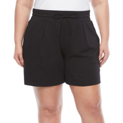 Stylus Womens High Rise Pull-On Short-Plus