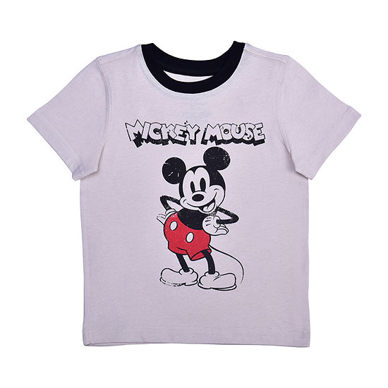 Okie Dokie Toddler Boys Crew Neck Mickey Mouse Short Sleeve Graphic T-Shirt