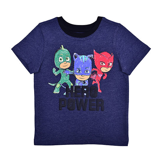 Okie Dokie Toddler Boys Crew Neck PJ Masks Short Sleeve Graphic T-Shirt