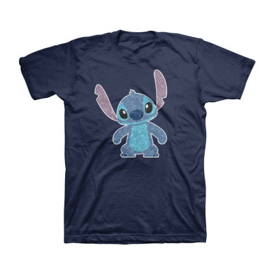 Disney Flip Sequin Little & Big Boys Crew Neck Stitch Short Sleeve Graphic T-Shirt