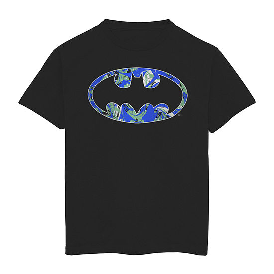 Little & Big Boys Round Neck Batman Short Sleeve Graphic T-Shirt