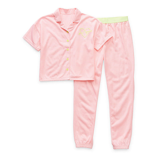 Arizona Little & Big Girls 2-pc. Pant Pajama Set
