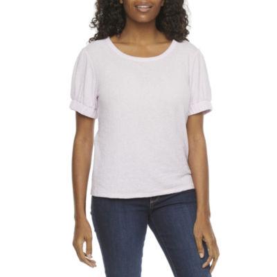 a.n.a Womens Crew Neck Short Sleeve T-Shirt