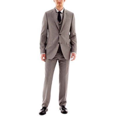 JF J. Ferrar® End-on-End Suit Suit Collection- Slim Fit