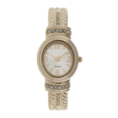 Womens Stone Accent Rope Bangle Watch