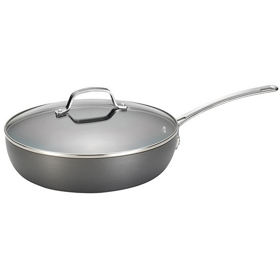 "Circulon Genesis 12"" Hard-Anodized Nonstick Covered Deep Skillet"