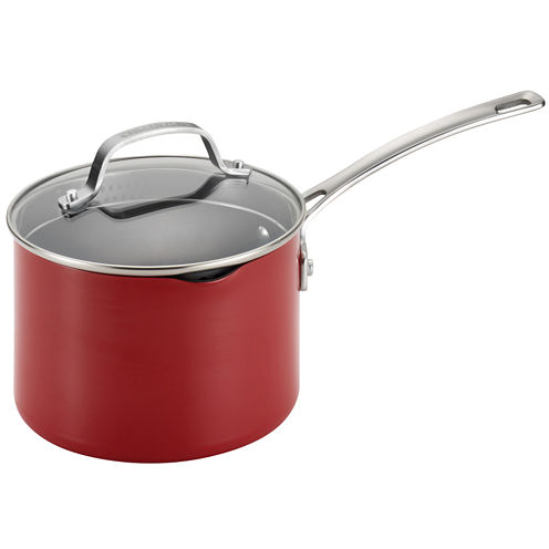 Circulon® Genesis 3-qt. Aluminum Nonstick Covered Straining Saucepan