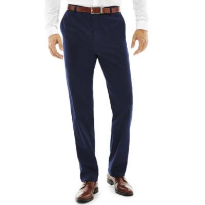 JF J. Ferrar® Slim-Fit Flat-Front Blue Stretch Suit Pants