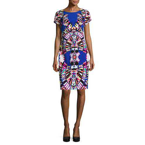 Robbie Bee Short Sleeve Sheath Dress