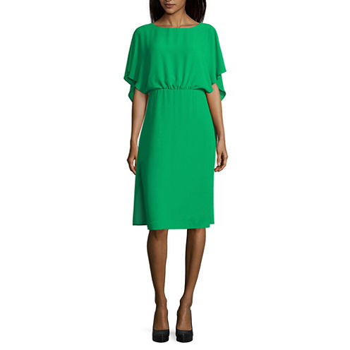 Melrose Flutter Sleeve Blouson Dress