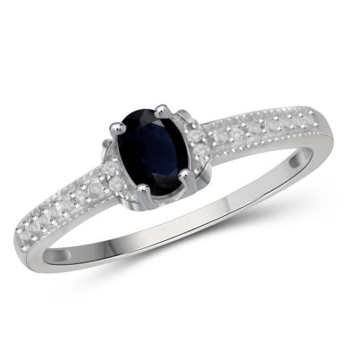 Womens 3/4 CT. T.W. Blue Sapphire Sterling Silver Band
