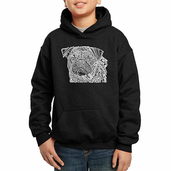 Los Angeles Pop Art The Word Pug Boys Crew Neck Graphic T-Shirt - Big Kid