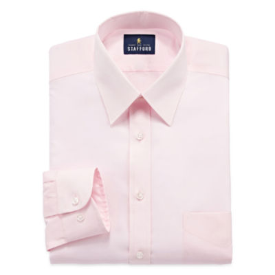 Stafford Long Sleeve Woven Pattern Dress Shirt
