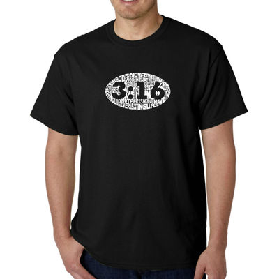 Los Angeles Pop Art Short Sleeve Crew Neck T-Shirt-Big and Tall