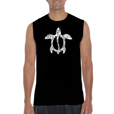 Los Angeles Pop Art Mens Crew Neck Sleeveless T-Shirt-Big and Tall