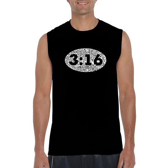 Los Angeles Pop Art Mens Crew Neck Sleeveless T Shirt Big And Tall