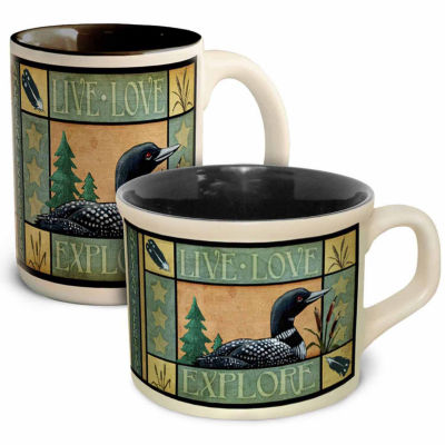 American Expedition 2pc Loon Cup and Saucer Set