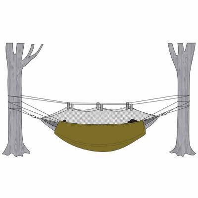 Snugpak Hammock Under Blanket with Travelsoft Filling-Olive