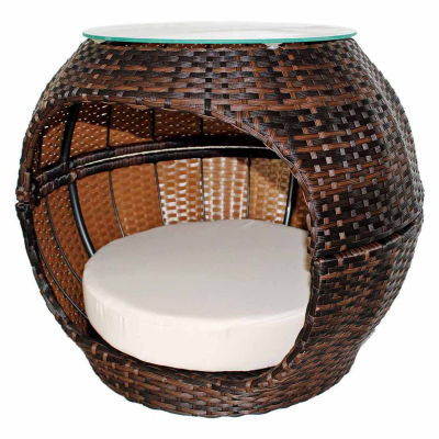 Iconic Rattan Hide-Away Pet Bed