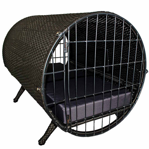 Iconic Rattan Cylinder Pet Crate