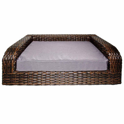 Rattan Pet Sofa Bed -  Indoor/Outdoor