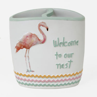 Saturday Knight Flamingo Fever Toothbrush Holder