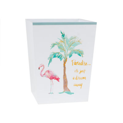 Saturday Knight Flamingo Fever Wastebasket