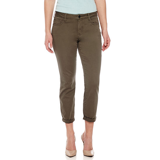 a.n.a-Petite Womens Mid Rise Modern Fit Ankle Pant