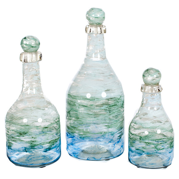 Glass Decorative Bottles Amazing Knox And Harrison Ocean Glass Decorative Bottles  Jcpenney Inspiration Design