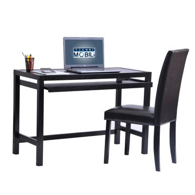 Techni Mobili Matching Desk With Keyboard Panel And Chair Set Desk