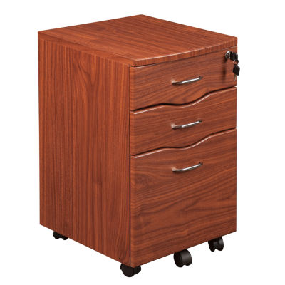 Techni Mobili Espresso Rolling Storage File Cabinet