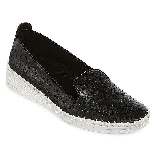 St Johns Bay Womens Oda Slip On Shoe Round Toe