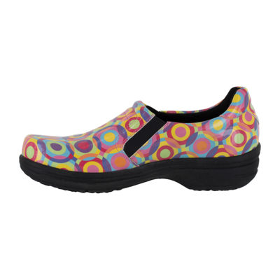 Easy Works By Easy Street Bind Womens Clogs Elastic Round Toe